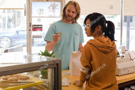 """Stock Picture of Wyatt Russell as Sean """"Dud"""" Dudley and Celia Au as Alice Ba"""