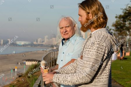 "Stock Picture of Kenneth Welsh as Larry Loomis and Wyatt Russell as Sean ""Dud"" Dudley"