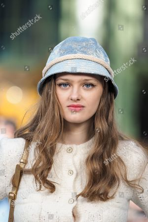 Stock Image of Lily Taieb in the front row