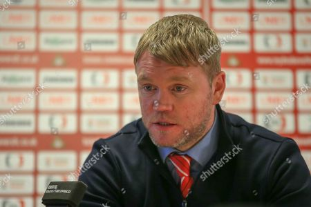 4th May 2019, Keepmoat Stadium, Doncaster, England; Sky Bet League One, Doncaster Rovers vs Coventry City ;  Grant McCann manager of Doncaster Rovers in the post match play offs, looking forward to the challenge that Charlton will provide Credit: Craig Milner/News Images English Football League images are subject to DataCo Licence