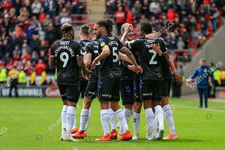 5th May 2019, New York Stadium, Rotherham, England; Sky Bet Championship Rotherham United vs Middlesbrough ; Middlesbrough players celebrate John Obi Mikel?s goal making it 0-2 Credit: John Hobson/News Images English Football League images are subject to DataCo Licence