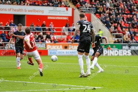 5th May 2019, New York Stadium, Rotherham, England; Sky Bet Championship Rotherham United vs Middlesbrough ; John Obi Mikel (02) of Middlesbrough scores to make it 0-2 Credit: John Hobson/News Images English Football League images are subject to DataCo Licence
