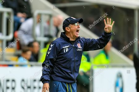 5th May 2019, New York Stadium, Rotherham, England; Sky Bet Championship Rotherham United vs Middlesbrough ; Tony Pulis manager of Middlesbrough gives out orders to his team Credit: John Hobson/News Images English Football League images are subject to DataCo Licence