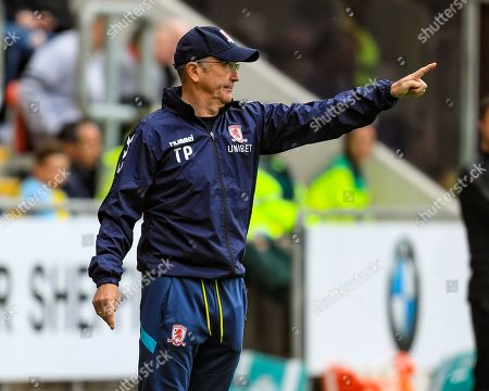 5th May 2019, New York Stadium, Rotherham, England; Sky Bet Championship Rotherham United vs Middlesbrough ; Tony Pulis manager of Middlesbrough gives out instructions to his side Credit: John Hobson/News Images English Football League images are subject to DataCo Licence