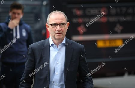 Martin O'Neill arrives at The City Ground.