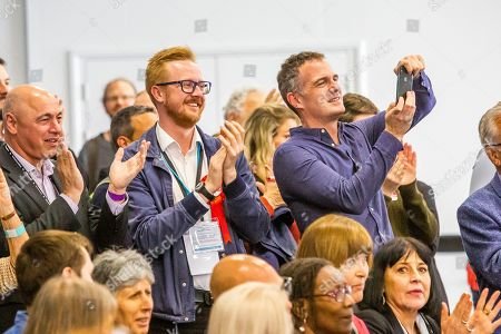 MP's Peter Kyle and Lloyd Russell Moyle watch the results of the count for the 2019 local elections in Brighton and Hove.