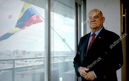 Venezuelan Ambassador to Spain, Mario Isea, poses during an interview with Spanish News Agency EFE in Madrid, Spain, 03 May 2019. Isea said that Venezuela is claiming Spain to hand over Venezuelan opposition leader Leopoldo Lopez, who sought refuge at the Spanish ambassador's residence in Caracas. Spain's Foreign Minister said that the embassy would not hand Lopez over to the Venezuelan authorities despite an arrest order issued by the Supreme Court, and that  Lopez would remain a 'guest' of the embassy.