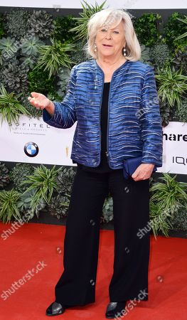 Stock Picture of Margarethe von Trotta attends the red carpet for the 69th German Film Awards 'LOLA' in Berlin, Germany, 03 May 2019. The most highly endowed cultural award in Germany is presented in 18 categories by the Deutsche Filmakademie (German film academy).