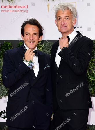 German actors Hans-Werner Meyer (L) and Dominic Raacke attend the red carpet for the 69th German Film Awards 'LOLA' in Berlin, Germany, 03 May 2019. The most highly endowed cultural award in Germany is presented in 18 categories by the Deutsche Filmakademie (German film academy).