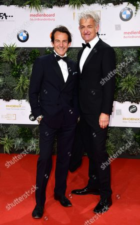 Stock Picture of German actors Hans-Werner Meyer (L) and Dominic Raacke attend the red carpet for the 69th German Film Awards 'LOLA' in Berlin, Germany, 03 May 2019. The most highly endowed cultural award in Germany is presented in 18 categories by the Deutsche Filmakademie (German film academy).