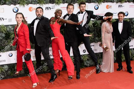 Stock Image of Sonja Gerhardt, Adnan Maral, Nikeata Thompson, Roman Knizka, Eugen Bauder attend the 69th German Film Awards 'LOLA' in Berlin, Germany, 03 May 2019. The most highly endowed cultural award in Germany is presented in 18 categories by the Deutsche Filmakademie (German film academy).