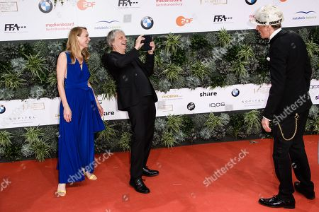 Anna Unterberger, Andreas Dresen and Alexander Scheer attend the 69th German Film Awards 'LOLA' in Berlin, Germany, 03 May 2019. The most highly endowed cultural award in Germany is presented in 18 categories by the Deutsche Filmakademie (German film academy).
