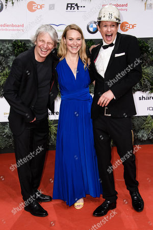 Andreas Dresen, Anna Unterberger and Alexander Scheer attend the 69th German Film Awards 'LOLA' in Berlin, Germany, 03 May 2019. The most highly endowed cultural award in Germany is presented in 18 categories by the Deutsche Filmakademie (German film academy).