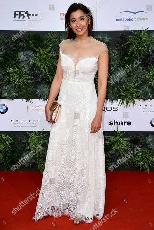 Stock Picture of Dorka Gryllus attends the 69th German Film Awards 'LOLA' in Berlin, Germany, 03 May 2019. The most highly endowed cultural award in Germany is presented in 18 categories by the Deutsche Filmakademie (German film academy).