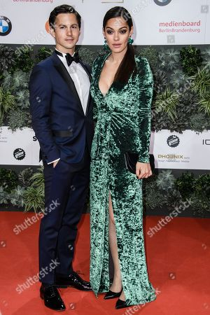Stock Image of Nilam Farooq (L) and Tim Oliver Schultz attend the 69th German Film Awards 'LOLA' in Berlin, Germany, 03 May 2019. The most highly endowed cultural award in Germany is presented in 18 categories by the Deutsche Filmakademie (German film academy).