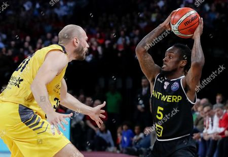 Editorial photo of Final four basketball Champions league, Antwerp, Belgium - 03 May 2019