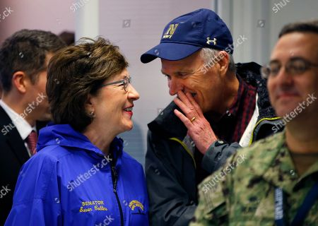 Richard V. Spencer Sen. Susan Collins. Sen. Susan Collins, R-Maine, chats with Secretary of the Navy Richard V. Spencer at the Portsmouth Naval Shipyard, Friday, May, 3, 2019, in Kittery, Maine. Spencer and Portsmouth Naval Shipyard commander Capt. David S. Hunt met with members of Maine and New Hampshire's congressional delegations who have been working to prevent shipyard construction projects from being cut to fund President Donald Trump's wall at the southern border