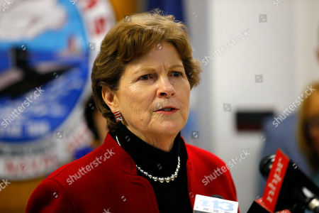 Sen. Jeanne Shaheen, D-NH, speaks at the Portsmouth Naval Shipyard, Friday, May, 3, 2019, in Kittery, Maine