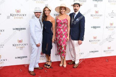 Howie Dorough, Leigh Dorough, Kristin Richardson and Kevin Richardson
