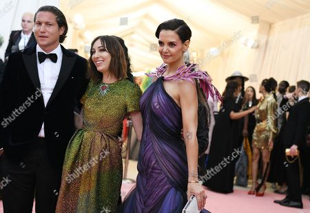 Vito Schnabel, Gia Coppola and Katie Holmes