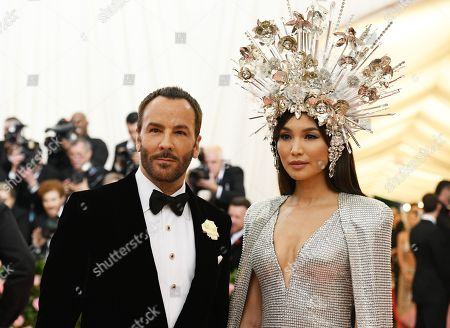 Tom Ford and Gemma Chan
