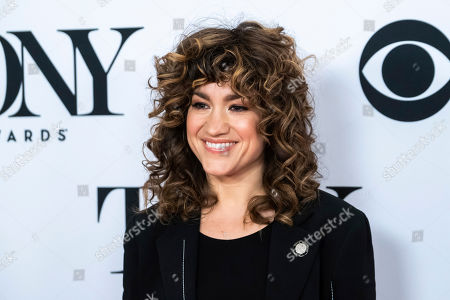 """This photo shows Sarah Stiles at the 73rd annual Tony Awards """"Meet the Nominees"""" press day at the Sofitel New York in New York. Stiles is nominated for a Tony for her performance in """"Tootsie"""