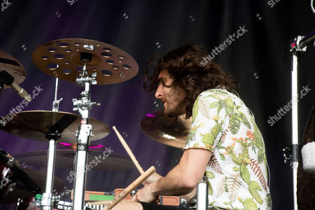 Matthew James Thomas of The Joy Formidable performs at the 2019 Shaky Knees Festival in Atlanta's Central Park on Friday, May, 3rd, 2019, in Atlanta