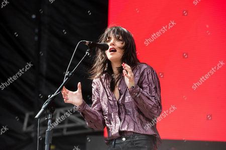 Sharon Van Etten performs at the 2019 Shaky Knees Festival in Atlanta's Central Park on Friday, May, 3rd, 2019, in Atlanta