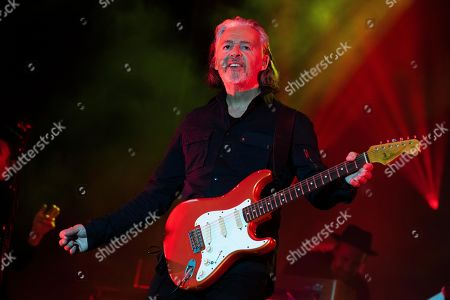 Stock Image of Roland Orzabal of Tears for Fears performs at the 2019 Shaky Knees Festival in Atlanta's Central Park on Friday, May, 3rd, 2019, in Atlanta