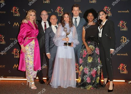 Hunter King, Michael Mealor and Sasha Calle with costume designers - Outstanding Costume Design for a Drama Series - ?The Young and the Restless?