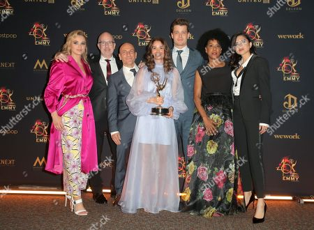Hunter King, Michael Mealor and Sasha Calle with costume designers - Outstanding Costume Design for a Drama Series - ÔThe Young and the RestlessÕ