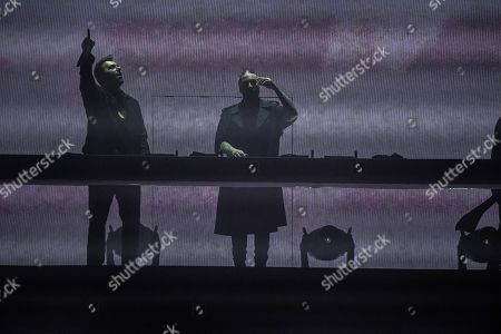 Stock Photo of Sebastian Ingrosso, Steve Angello, Axwell