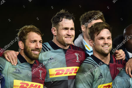James Horwill of Harlequins looks on after the match