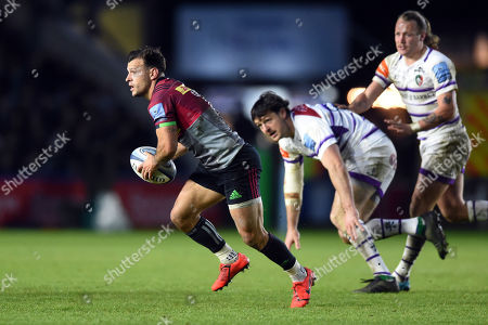 Danny Care of Harlequins goes on the attack