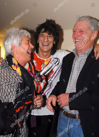 Ian McLagan, Ronnie Wood and Georgie Fame
