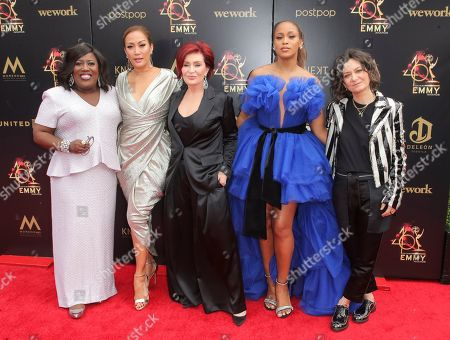 Stock Picture of Sheryl Underwood, Carrie Ann Inaba, Sharon Osbourne, Eve and Sara Gilbert
