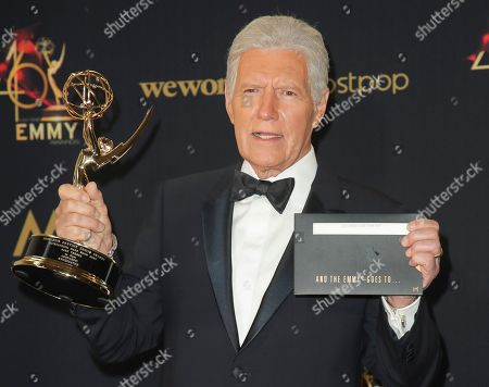 Stock Image of Alex Trebek - Outstanding Game Show Host - Jeopardy
