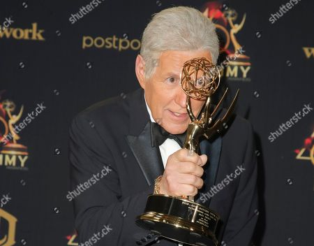 Stock Picture of Alex Trebek - Outstanding Game Show Host - Jeopardy