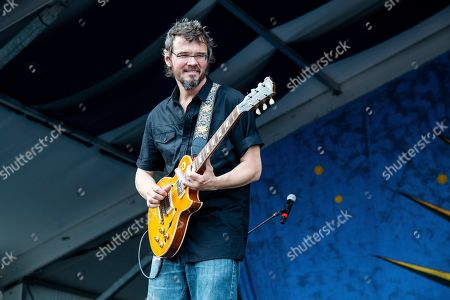 Luther Dickinson of North Mississippi Allstars performs at the New Orleans Jazz and Heritage Festival, in New Orleans