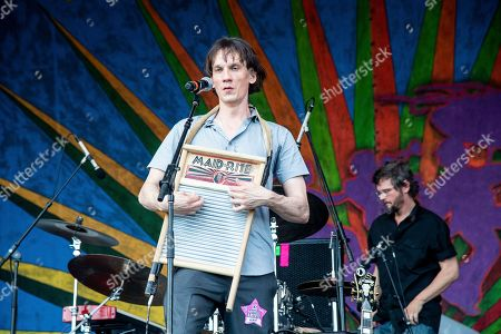 Cody Dickinson of North Mississippi Allstars performs at the New Orleans Jazz and Heritage Festival, in New Orleans