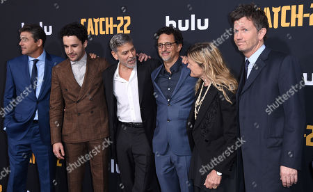 Kyle Chandler, Christopher Abbott, George Clooney, Grant Heslov, Richard Brown, Ellen Kuras and Luke Davis