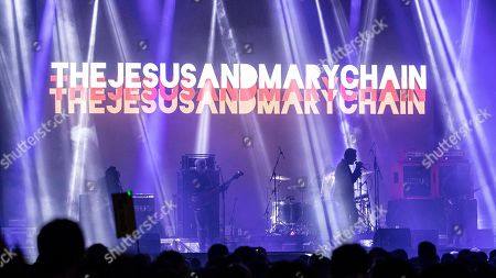 Jim Reid of the indie pop band The Jesus and Mary Chain performs during the Warm Up Festival 2019, in Murcia, Spain, 03 May 2019.