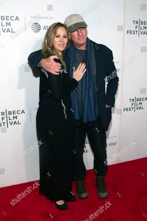 "Alejandra Silva, Richard Gere. Alejandra Silva, left, and Richard Gere attend the screening for ""It Takes a Lunatic"" during the 2019 Tribeca Film Festival at the Tribeca Performing Arts Center, in New York"