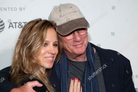 "Stock Image of Alejandra Silva, Richard Gere. Alejandra Silva, left, and Richard Gere attend the screening for ""It Takes a Lunatic"" during the 2019 Tribeca Film Festival at the Tribeca Performing Arts Center, in New York"