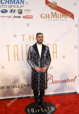 Quincy Brown arrives at The Trifecta Gala sponsored by G.H. Mumm Champagne, in Louisville, Ky