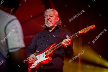 "Roland Orzabal, of the English pop band Tears for Fears, performs onstage at the 7th annual Shaky Knees Music Festival, in Atlanta. The band lit up the massive crowd with their 1980s era hit ""Everybody Wants To Rule The World"