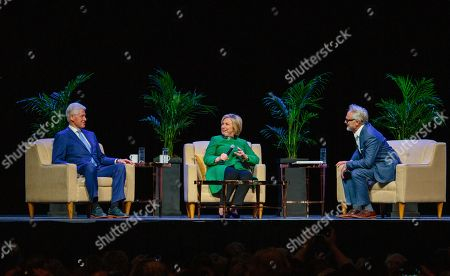 Bill Clinton, Hillary Clinton and Bradley Whitford