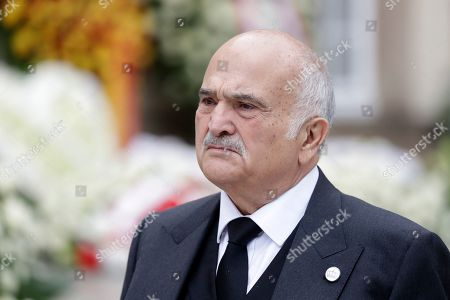 Prince Hassan of Jordan leaves the Notre-Dame Cathedral after the funeral of Grand Duc Jean of Luxembourg, in Luxembourg, 04 May 2019. Grand Duc Jean died at the age of 98 on 23 April 2019.