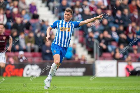 Alex Bruce (#4) of Kilmarnock FC during the Ladbrokes Scottish Premiership match between Heart of Midlothian and Kilmarnock at Tynecastle Stadium, Gorgie