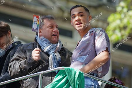 Radio presenter Kevin Johns and singer Shaheen Jafargholi